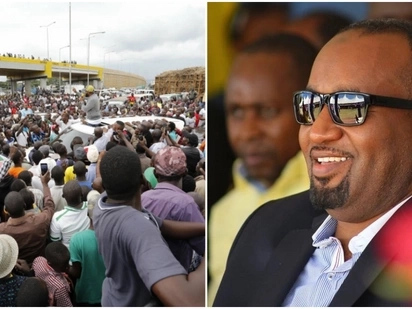 Governor Joho receives heroic reception in Kisumu on his way from Kakamega