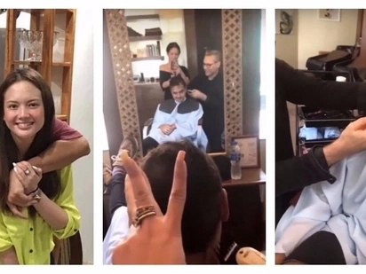 Sila na nga ba? Video of John Lloyd Cruz spending time with Ellen Adarna while having his hair cut goes viral