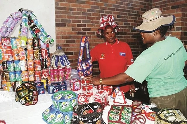 Waste into WEALTH! Women turn boxes, bottles, cans into hats, bags and even books for kids (photo)