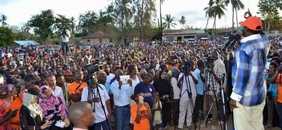 Photos: Raila pushes for voter support ahead of Malindi by-election