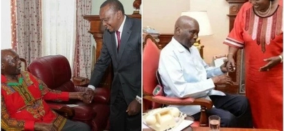 Uhuru visits retired president Daniel Moi weeks after his mother's visit (Photos)