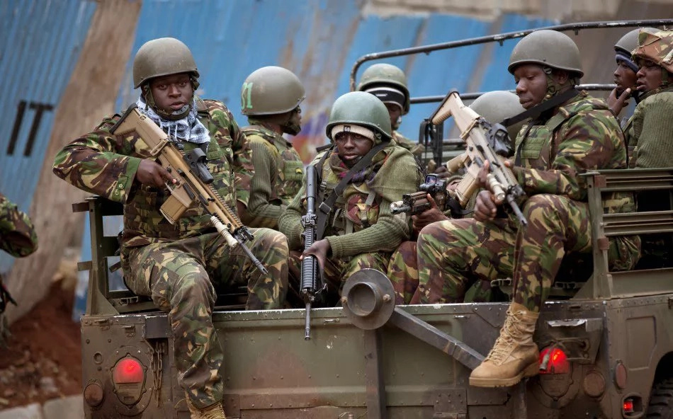 The FN SCAR rifle that is only used by Kenyan forces in Africa