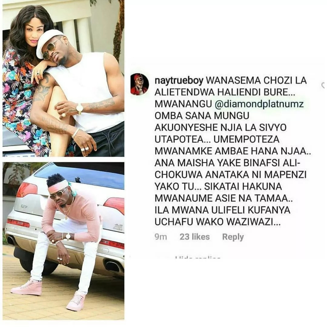 You'll regret breaking up with Zari - Bongo rapper Nay Mtego tells Diamond