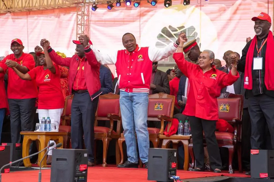 Has NTV's Larry Madowo joined Uhuru Kenyatta's Jubilee Party?