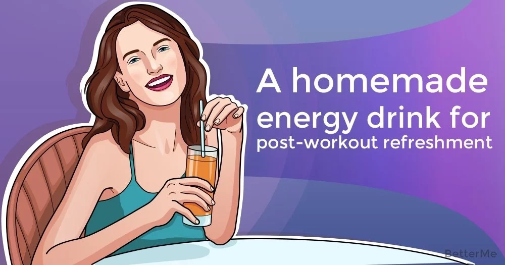 Homemade energy drinks for post-workout refreshment