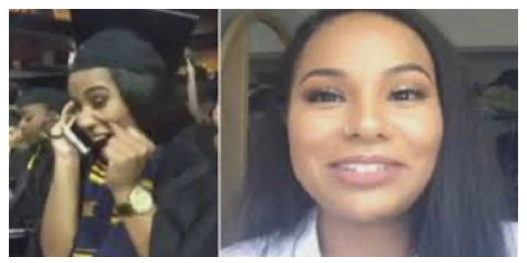 Graduate receives life-changing phone call in the middle of her graduation