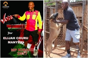 Jubilee parliamentary aspirant sells dogs to fund his campaigns (Photos)