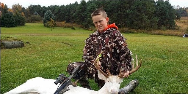 Boy, 11, Shoots Extremely Rare Albino Deer Dead With A Crossbow