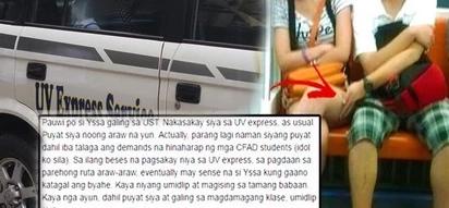 Disgusted netizens slam UST admin for defending 5th-yr UST student who molested netizen's sister on UV express