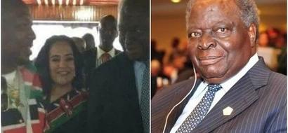 Seneta wa Nairobi adokeza kuhusu afya ya Rais mstaafu Mwai Kibaki(picha)