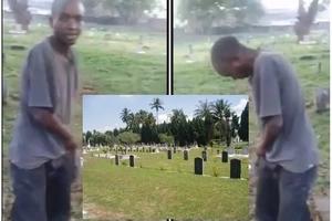 Jamaa afumaniwa akienda HAJA hadharani, kilichofuata kitakuchefua moyo (video)