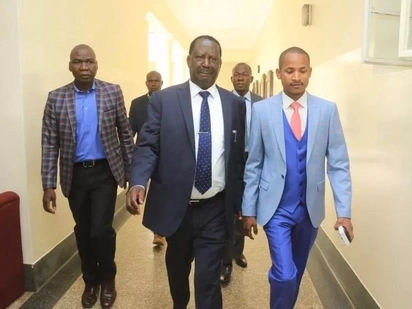 Raila heads to Parklands Police station to secure Babu Owino's release