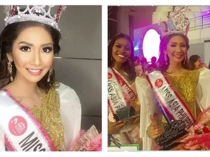 Ang galing talaga ng Pinoy! Philippines' Mary Eve Adeline Escoto was crowned Miss Asia Global 2017