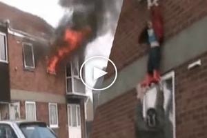 Two skateboarders noticed a fire in the window. You will never believe what these brave guys did next!