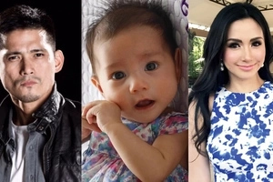 Adorable baby Isabella turns 4 months old! Does she look like daddy Robin or mommy Mariel?