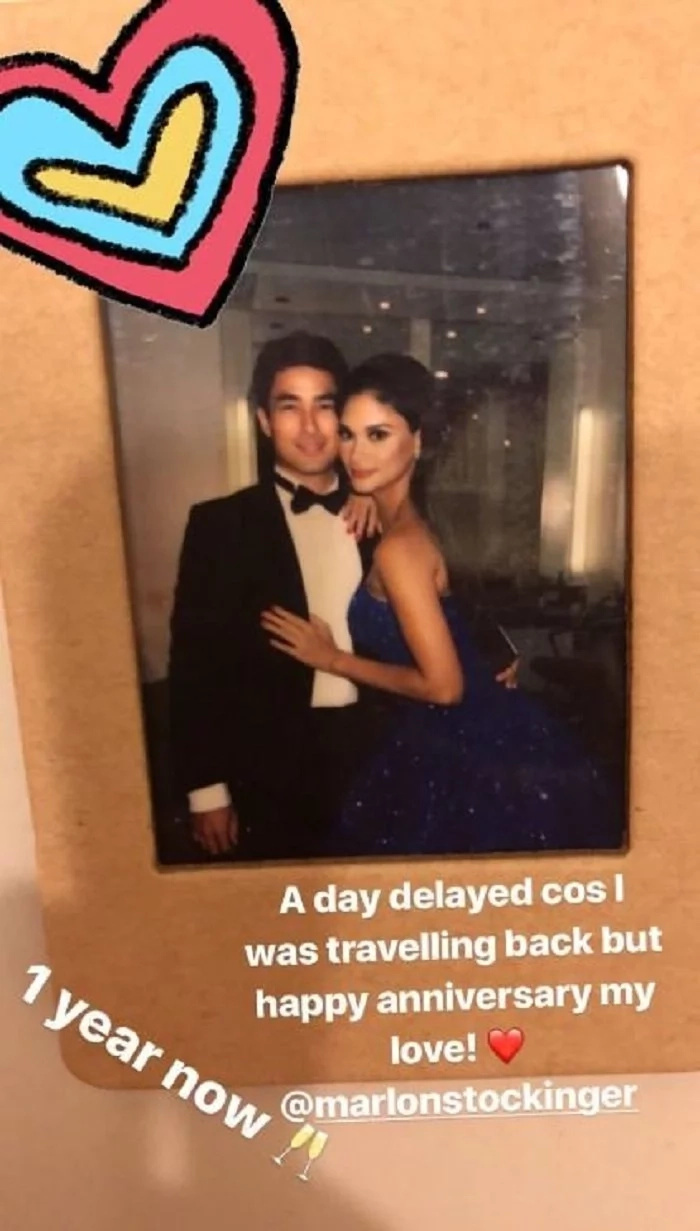 Pia Wurtzbach's Anniversary Message to BF Marlon Stockinger is a day delayed
