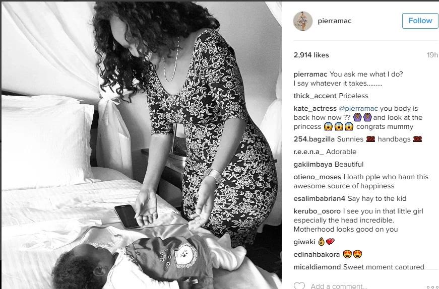 Pierra Makena still looking hot after giving birth