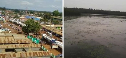 Locals overwhelmed with joy as 'MIRACLE' lake emerges in drought stricken Busia county