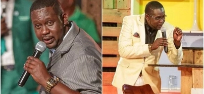 Comedian Churchill Ndambuki forced to speak after aroused photo goes viral
