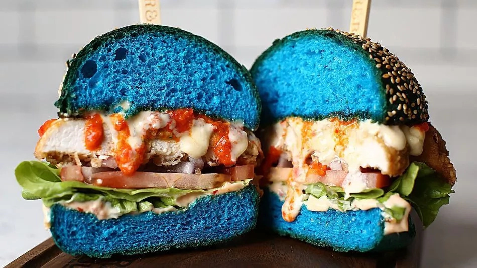 Man, These Blue Burgers Are Here To Fulfill Your Insatiable Hunger For Weird Food
