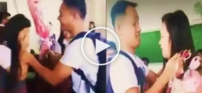 Pinoy dad surprises daughter at school with flowers after finding out that nobody asked her out on Valentine's Day