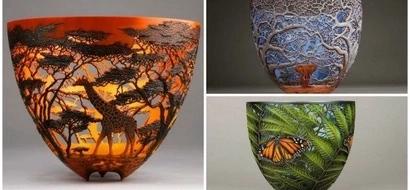 Kenyan-born artist carves BEAUTIFUL wildlife and nature scenes on wood (photos)