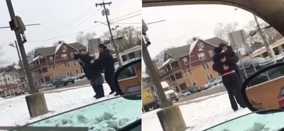 Woman incredibly stops her car to buy a coat for a homeless man who was freezing in the cold
