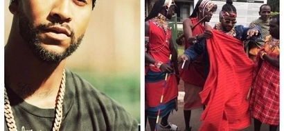 Omarion dressed, dancing with Maasais goes VIRAL (video)