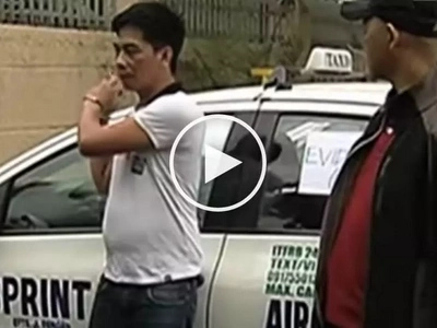 Watchful airport police at NAIA capture taxi driver for robbing his female passenger