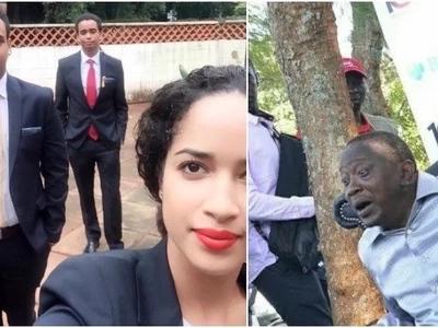 Mwai Kibaki's grandson gets 'an angel' as new girlfriend(photos)