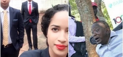 Mwai Kibaki's grandson gets 'an angel' as new girlfriend(photos)