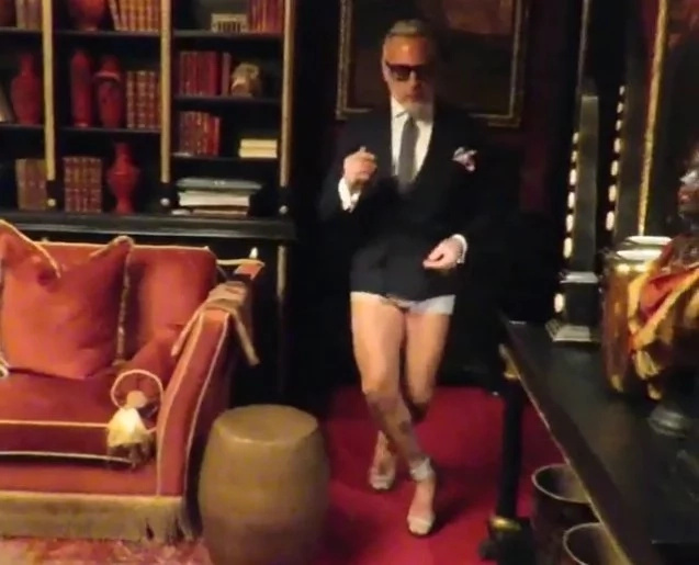 Half-Naked Millionaire Caught Dancing In High-Heels (Video)