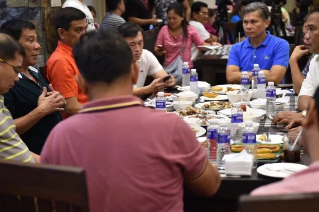 Duterte Cabinet members bond over lunch of monggo, dried fish