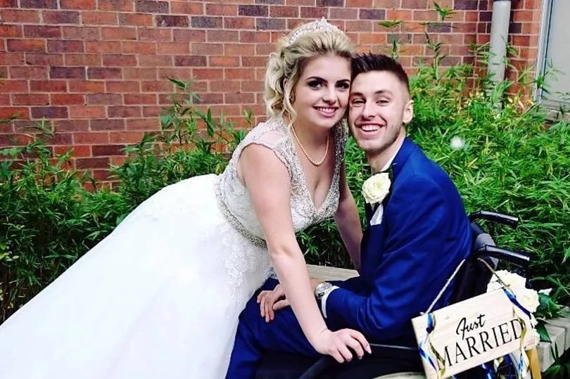 Despite news of his misdiagnosis, they went ahead with their wedding. Photo: The Sun UK