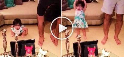 Watch daddy Hayden Kho teach her cute daughter Scarlet Snow how to dance!