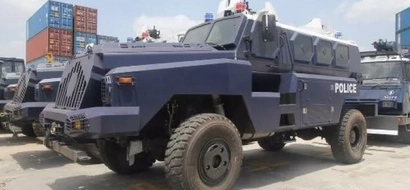 PHOTOS: After Uhuru, Uganda's Museveni also buys armoured police vehicles