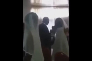 MISTRESS Attended Boyfriend's Wedding With A Wedding Dress And Ruined The Wedding (Video)