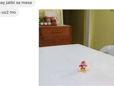 His sister told him there's Jollibee on the table, but instead he found this