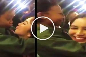 Watch Julia Barretto surprise Awra Briguela with a kiss on the lips during her birthday party!