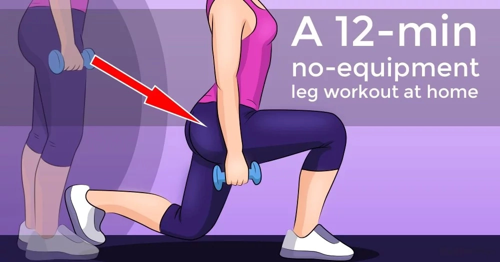 A 12-min no-equipment leg workout at home