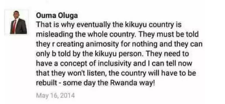 Doctors say this regarding 'a nasty Facebook post about Kikuyus' from their boss
