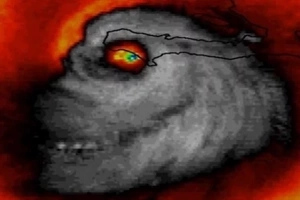 See what the Monster Hurricane looks like, when they took the pictures of it from the space!