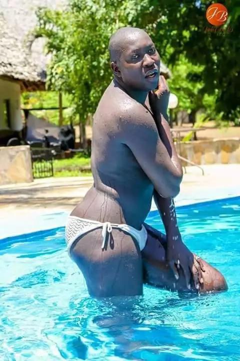 Kenyan man wears a bikini and posts photos online
