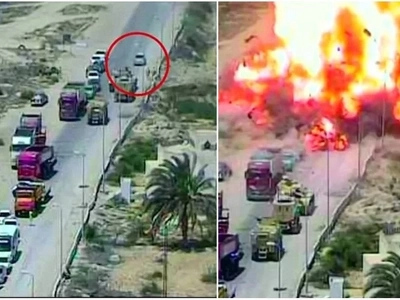 Heroes! Tank crew crash car laden with 100kg of explosives, save 50 people from death