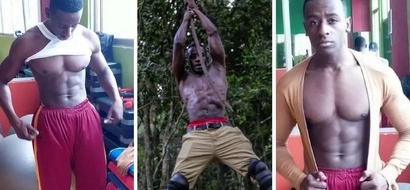 Hot Kenyan cop with RIPPED torso throws women into a frenzy AGAIN
