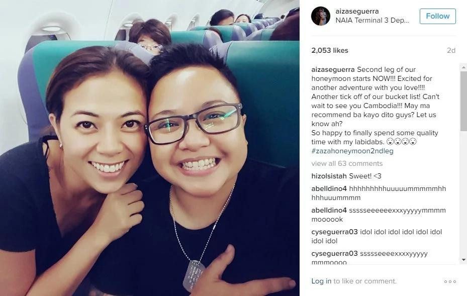 Aiza Seguerra and partner go for a 2nd honeymoon