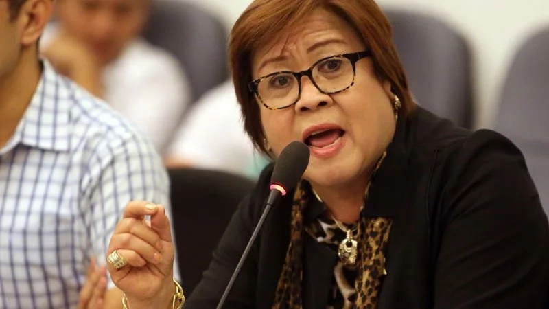 De Lima welcomed the accusations against her. (Photo credit: Inquirer)