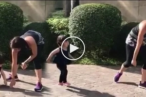 Ninang Anne Curtis patiently shows Scarlet Snow how to run in this adorable video
