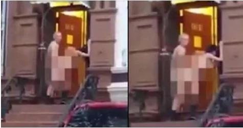 Grabaron a estos adultos mayores teniendo sexo en el frente de su casa