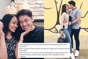 Posible naman pala eh! This Pinay netizen proves that long distance relationships can work in this viral post
